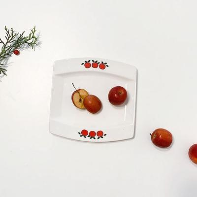 애플 디저트접시