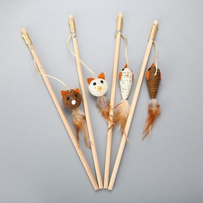 고양이 용품 장난감 낚시대 쥐 깃털 CT-7773 로프_(2443110)