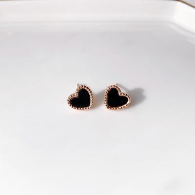미니 하트 자개 귀걸이(2color)_mini heart earring
