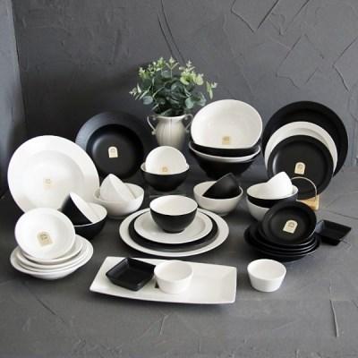 로얄킴스6인38p홈세트(혼합) / 신혼 북유럽 도자기 그릇 식기 홈