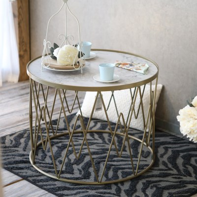 마블 패턴 소파 테이블