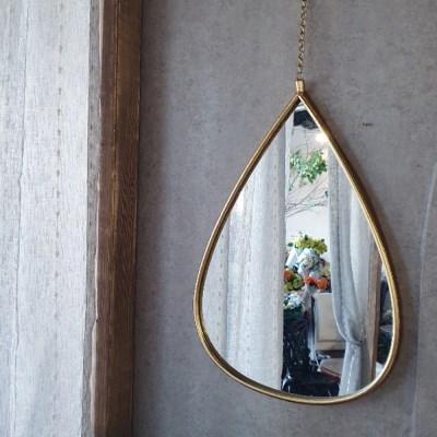 골드라인 물방울 거울