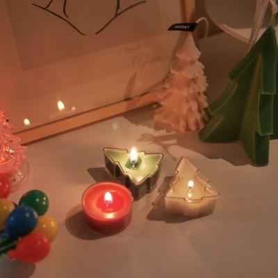 크리스마스 트리 티라이트 캔들세트