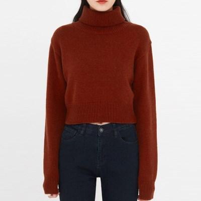 mean crop wool turtleneck knit_(1398349)