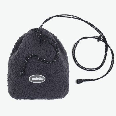 BOA FLEECE BUCKET BAG (CHARCOAL)_(401042723)