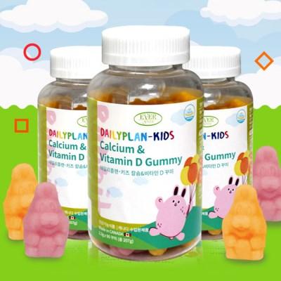 에버그린 데일리플랜-키즈 칼슘&비타민D 꾸미(2300mgx90꾸미)