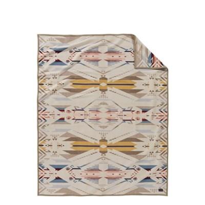 [펜들턴] 기모처리 안된 자카드 블랭킷 로브 담요 화이트 샌드