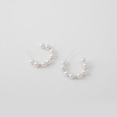 [쥬디앤폴] 올리 진주 앤 비즈 링 귀걸이 E51221