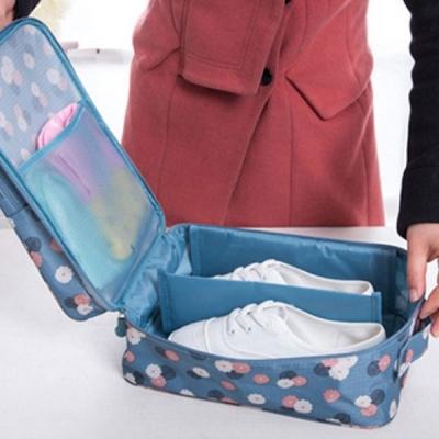 트레블 신발 파우치(블루) / 여행용 신발 캐리어 파우치 수납백