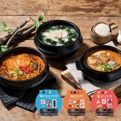 밀스원 간편국밥 도시락 3종 9팩 (각 3팩)
