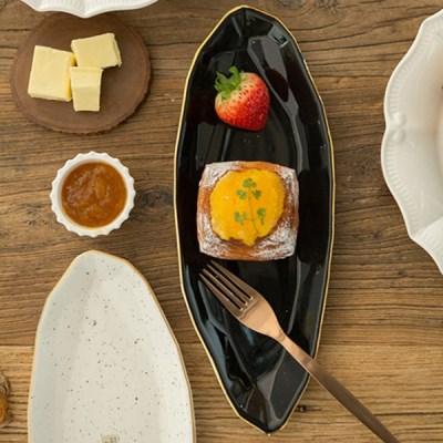 다이아 생선접시 (2컬러) / 플레이팅 타원 도자기 카페 접시