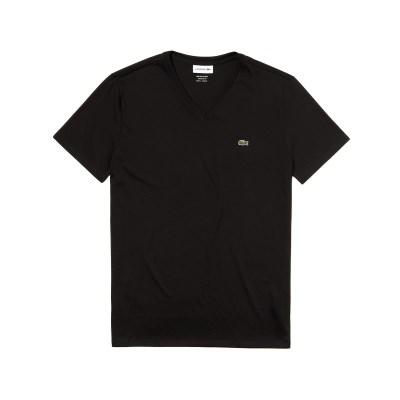 라코스테 브이넥 반팔 티셔츠 (LACOSTE TH6710_031 blac_(810217)