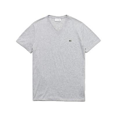 라코스테 브이넥 반팔 티셔츠 (LACOSTE TH6710_cca silv_(810214)