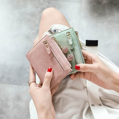여자반지갑 키링반지갑