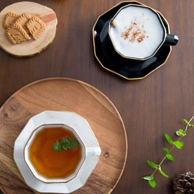 다이아 2인 커피잔세트 (2컬러) / 선물용 부부 찻잔 커피잔 세트