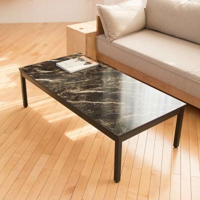 블랙골드마블 스틸 1200 좌식 테이블 /좌탁/소파테이블