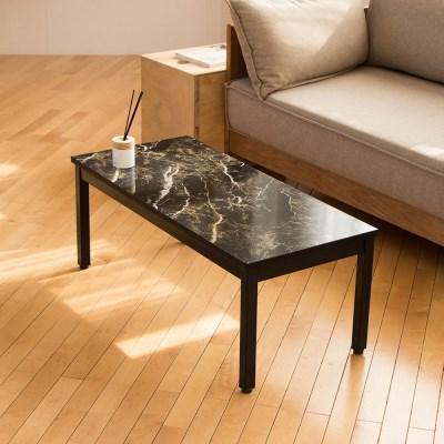 블랙골드마블 스틸 900 좌식 테이블 /좌탁/소파테이블