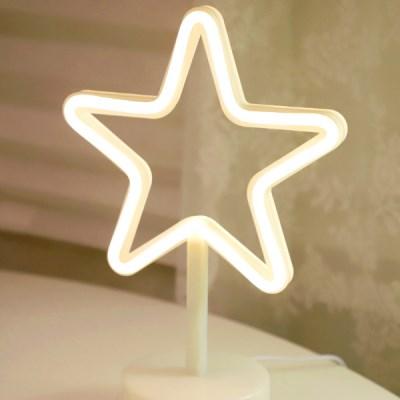 LED 네온 전구 USB 조명등 (별)_(301768011)