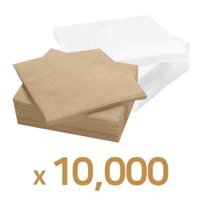 업소용 카페냅킨 무지 브라운, 화이트 10000매