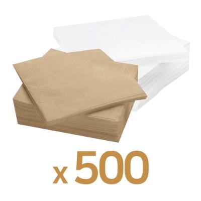 업소용 카페냅킨 무지 브라운, 화이트 500매