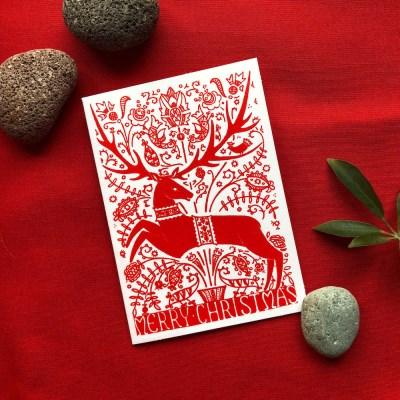 레인디어 크리스마스 카드