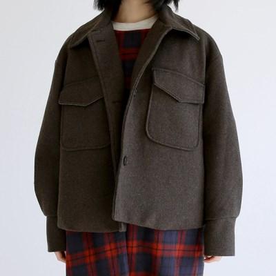 two pocket crop jacket (brown)_(1404385)