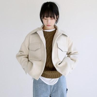 two pocket crop jacket (beige)_(1404386)