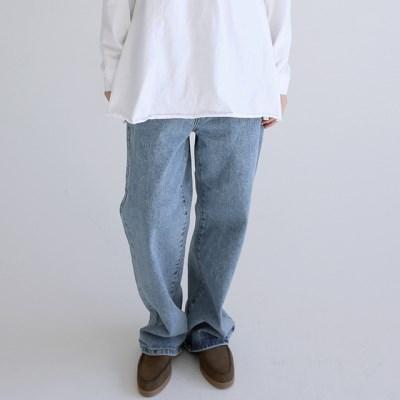 strap detail denim pants (2colors)_(1404383)