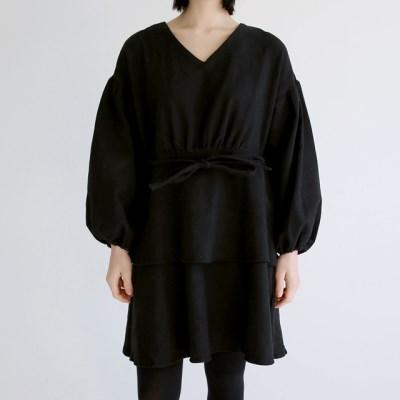 puff string mini dress (2colors)_(1402777)