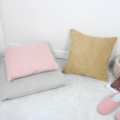 골지 스트라이프 극세사 방석 쿠션 - 3color