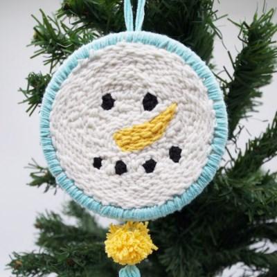 크리스마스 눈사람 펀치니들 키트