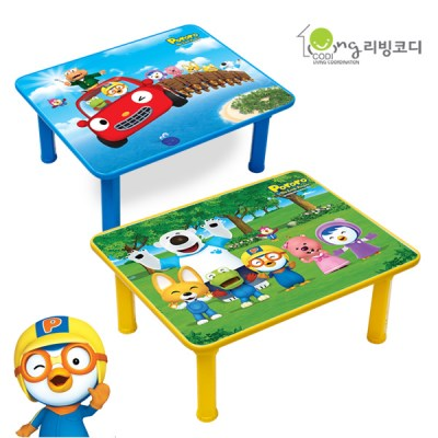 리빙코디 뽀로로 공부상/유아밥상 어린이책상
