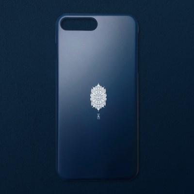 [유광]전통문양 아름다울 미 블랙 코발트 휴대폰 케이스