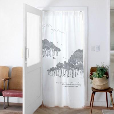 창문 도어 커튼 유리창 140x200cm 더포레스트_(1410797)