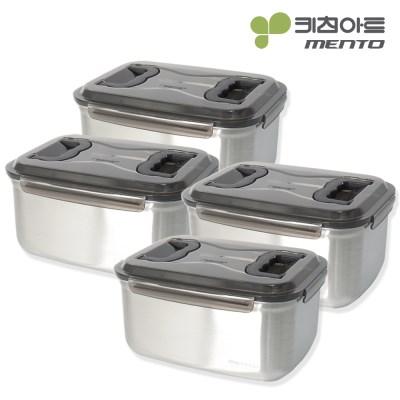 키친아트 멘토 김치통 5호(9.5L) 김장밀폐용기 4종세트