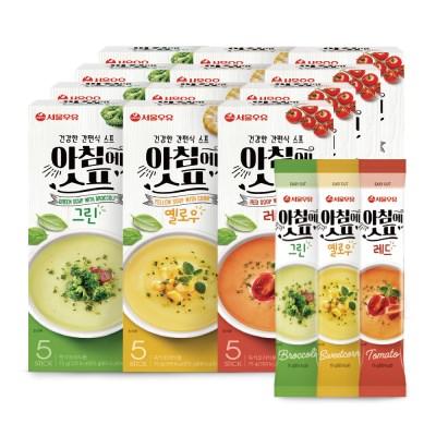 [서울우유] 아침에스프 3가지맛 60스틱(그린20+옐로우20+레드20)