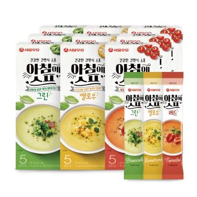 [서울우유] 아침에스프 3가지맛 45스틱(그린15+옐로우15+레드15)