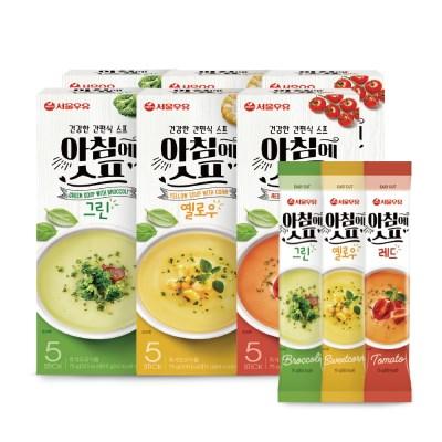 [서울우유] 아침에스프 3가지맛 30스틱(그린10+옐로우10+레드10)