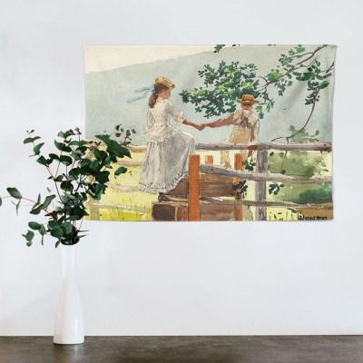 패브릭 포스터 호머 풍경 수채화 4-3