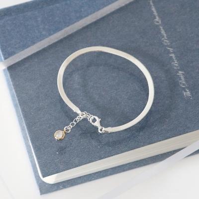(92.5 silver) round modern bracelet