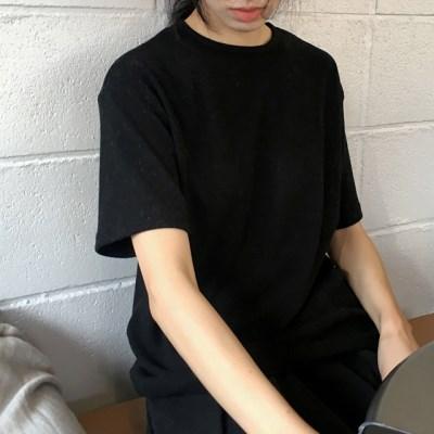 bold cotton tee (black)_(1407007)