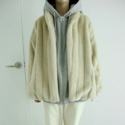 fluid fur jacket (beige)_(1406129)