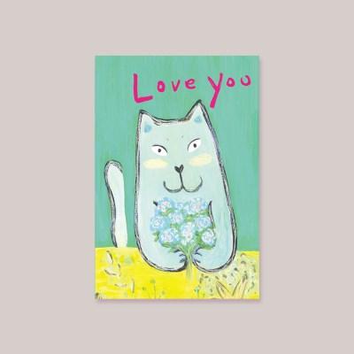 캘리엠 CAT LOVE MK3001 캘리그라피 사랑카드