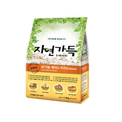 자연가득 유기농 현미와 닭고기 1.2kg(1세이하)_(1209235)