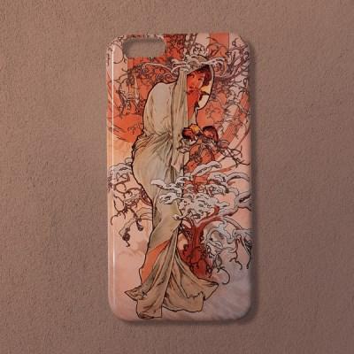 [무광]알폰스 무하 사계 겨울 명화 휴대폰 케이스