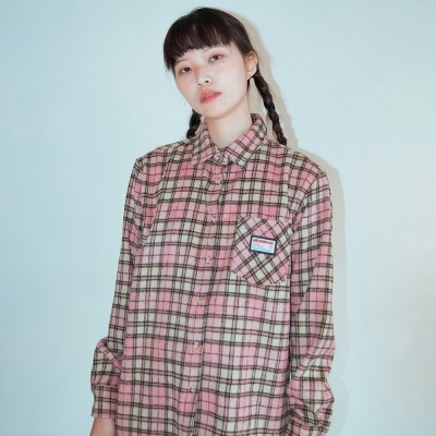NEONMOON 19W Check Shirt PINK