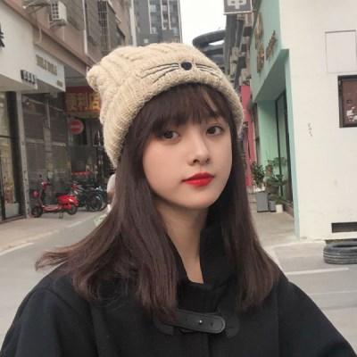 라키 여자 겨울 고양이 니트 비니_(2301850)