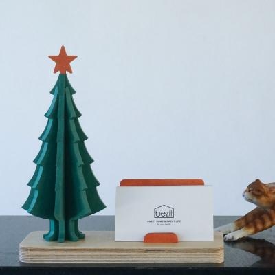 크리스마스 트리 자작나무 명함꽂이 2종