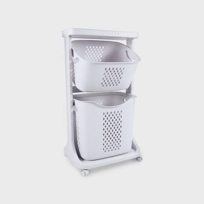 코드리빙 세탁 2단 빨래바구니 LT2-BG_(1457762)