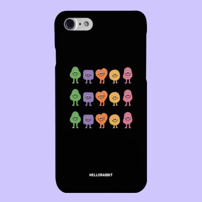 [헬로래빗]젤라비 블랙기본 하드 핸드폰 케이스